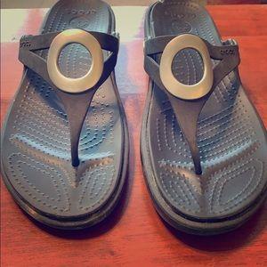 Black croc sandals - COMFY and CUTE!!